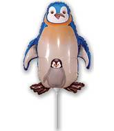 Airfill Only Blue Penguin Balloon