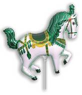 Airfill Only Green Horse Circus Balloon