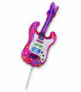 Airfill Only Fuchsia Guitar Balloon