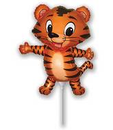 Airfill Only Tiger Cub Black Balloon