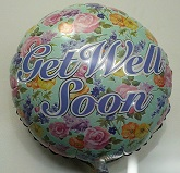 "18"" Get Well Floral Mylar Balloon"