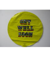 "18"" Get Well Soon Colorfull Text Balloon"