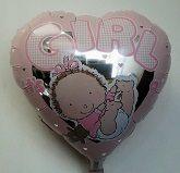 "18"" It&#39s a Girl Baby Balloon"