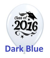 "11"" Class of 2016 Grad Cap Dark Blue (50 Ct)"