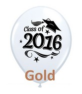 "11"" Class of 2016 Grad Cap Gold (50 Ct)"