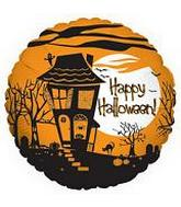 "30"" Happy Halloween House Balloon slightly damaged"