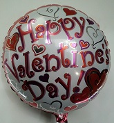 "18"" Happy Valentine&#39s Day Mylar Balloon"
