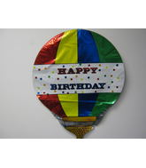 "21"" Happy Birthday Hot Air Balloon"