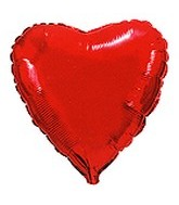 "32"" Metallic Red Jumbo Heart"