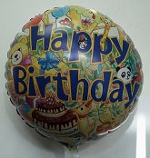 "18"" Animal Birthday Party Mylar Balloon"