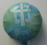 "18"" Happy Christening Blue"