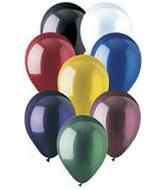 9 inch Crystal Assorted Latex Balloons