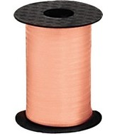 "3/16"" Poly Curling Ribbed Ribbon Melon"