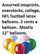 Approximately 1000 printed latex balloons for Pranks.