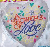 "18"" A Shower Of Love Mylar Balloon"