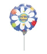 "9"" Airfill Get Well Daisy Balloon"