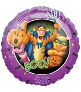 "18"" Halloween Pooh And Friends Balloon"