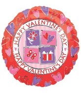 "18"" Happy Valentine&#39s Day Multi-Icon"