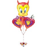 Tweety Valentine 3-piece Bouquet