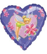 "18""  Tinker Bell Magic Heart Balloon"