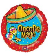 "18"" Cinco de Mayo Mylar Balloon"