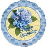 "18"" Hydrangea Birthday Balloon"
