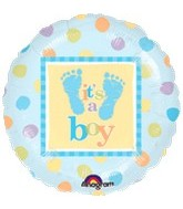 "18"" Baby Steps Boy Balloon"