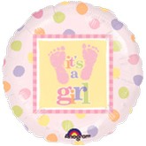 "18"" Baby Steps Girl Mylar Balloon"