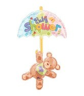 "49"" Hugs & Stitches Baby Shower Bear Balloon"