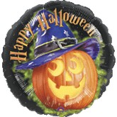 "18"" Halloween Pumpkin with Hat"