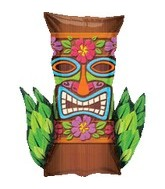 "30"" Jumbo Mylar Tiki Time Balloon"