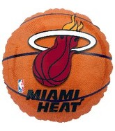 "18"" NBA Miami Heat Basketball Balloon"
