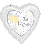 "32"" Jumbo Heart Just Married Balloon"