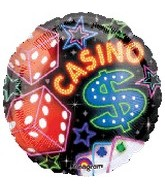 "18"" Casino Mylar Party Balloon"