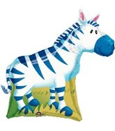 "30"" Large Jungle Party Zebra Balloon"