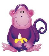 "28"" Jungle Party Purple Monkey Balloon"