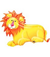 "35"" Jungle Party Lion Foil Balloon"