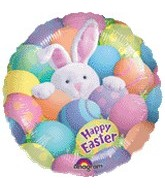 "18"" Happy Easter Bunny in Eggs"