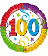 "18"" Perfection 100  Mylar Party Balloon"