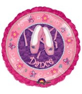 "18"" Twinkle Toes Dance Prismatic Balloon"