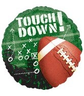 "18"" Football Frenzy Mylar Balloon"