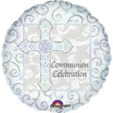 "18"" Rejoice Communion Holographic Balloon"