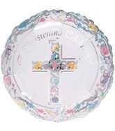 "18"" Religious Scroll Chirstening"