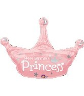 "34"" Birthday Princess Crown Balloon"