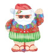 "28"" Relaxing Santa Clause Balloon"