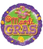 "18"" Mardi Gras Party Balloon"
