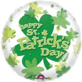 "24"" St Patrick&#39s Day Clover Balloon"