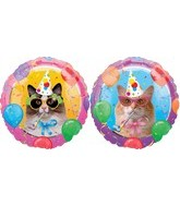 "18"" Cats Meow Party Balloons"