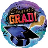 "18"" Congrats Grad Hat Balloon"