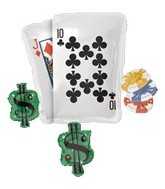 "30"" Poker Party Cluster Casino Balloon"